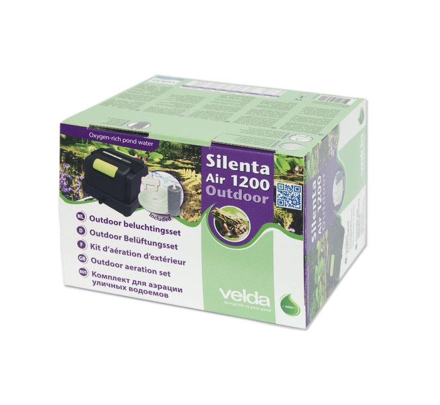 Velda Luchtpomp Silenta Air Outdoor 1200 Inclusief Luchtsteen & Slang