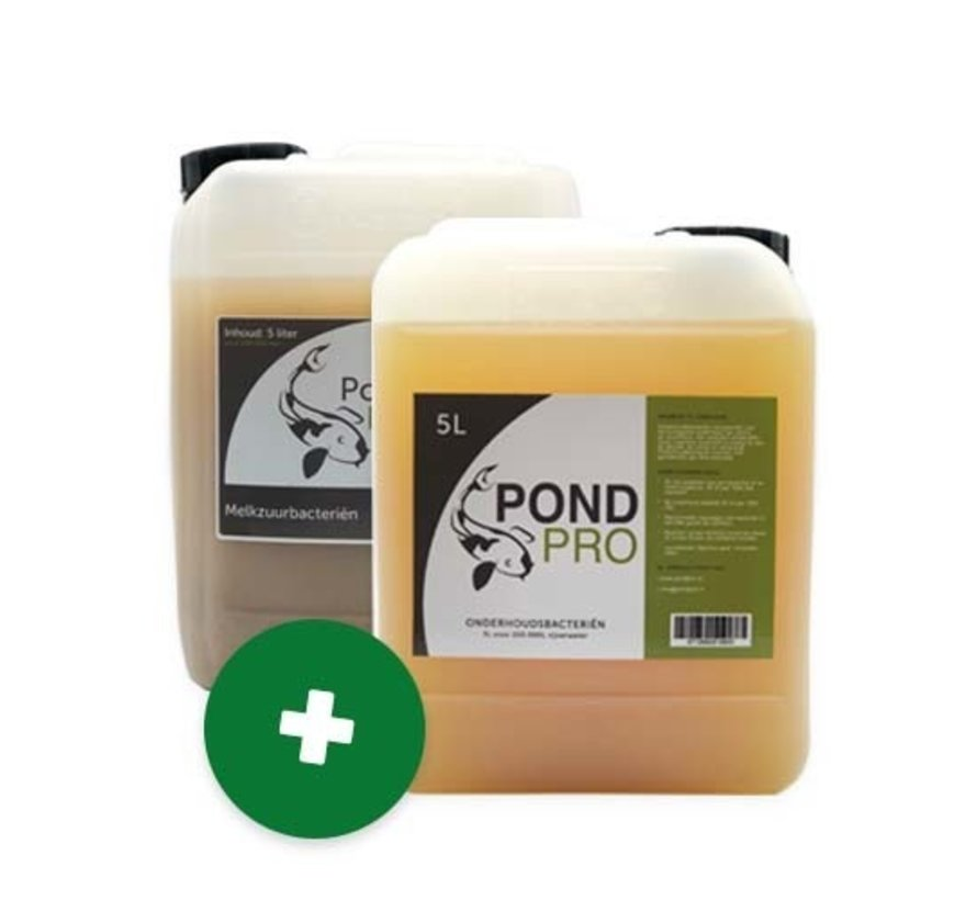 Pond Pro Onderhoudspakket (Melkzuurbacteriën 5L + Onderhoudsbacteriën 5L)