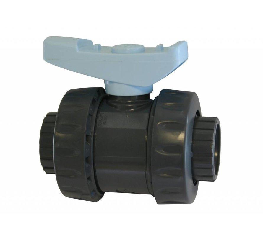 """PVC Kogelkraan 1,5"""" voor Nexus filter"""