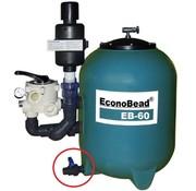 Aquaforte Vuilafvoerkraan 25mm voor Beadfilter EB40-50-60