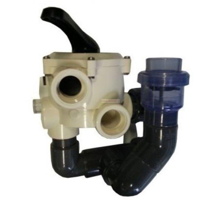 Zeswegklep voor Econobead 40-50-60 (50mm)