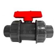 AquaKing Red Label Kogelkraan PVC Dubbele wartel 50mm Aquaking