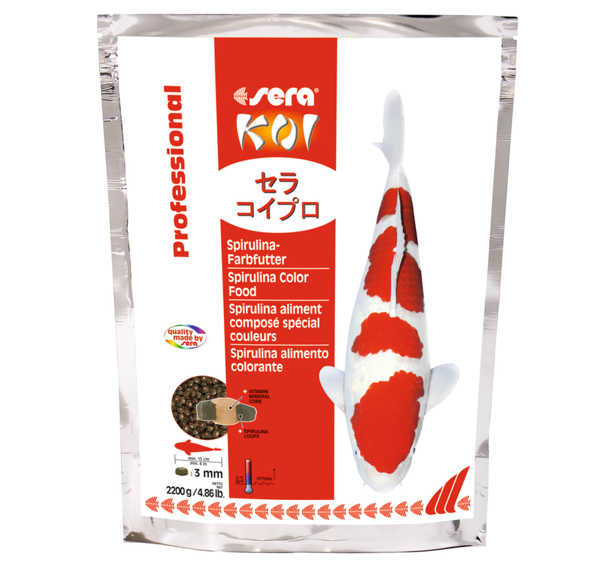 Sera Koi Professional Spirulina-kleurvoeder