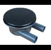 Aquaking AquaKing Bodemdrain 2 x 110 - Zwart Ø400mm - Deksel