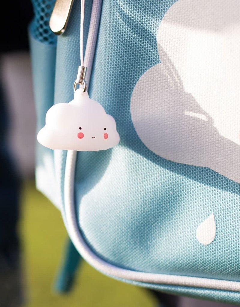 A Little Lovely Company Sleutelhanger Charm Wolkje - A Little Lovely Company