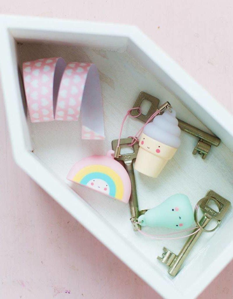 A Little Lovely Company Sleutelhanger Charm Ijsje - A Little Lovely Company