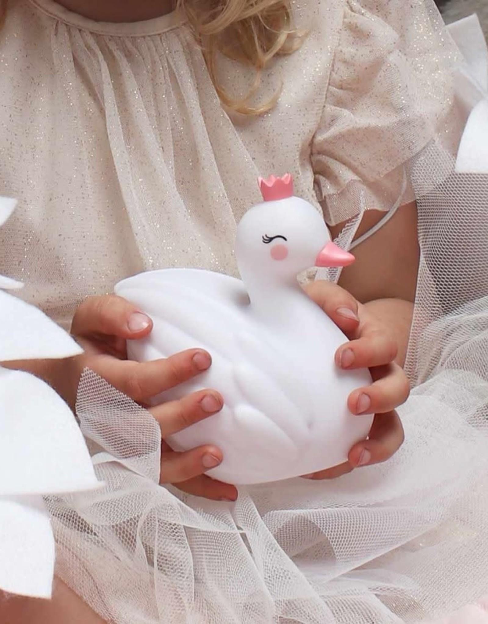 A Little Lovely Company Nachtlampje Zwaan - A Little Lovely Company