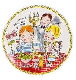 "Blond Amsterdam Dinerbord Love 26cm ""Even Bijkletsen"" - Blond Amsterdam"