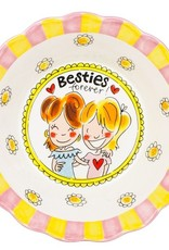 "Blond Amsterdam Schaal 23,5cm Besties Forever ""Even Bijkletsen"" - Blond Amsterdam"