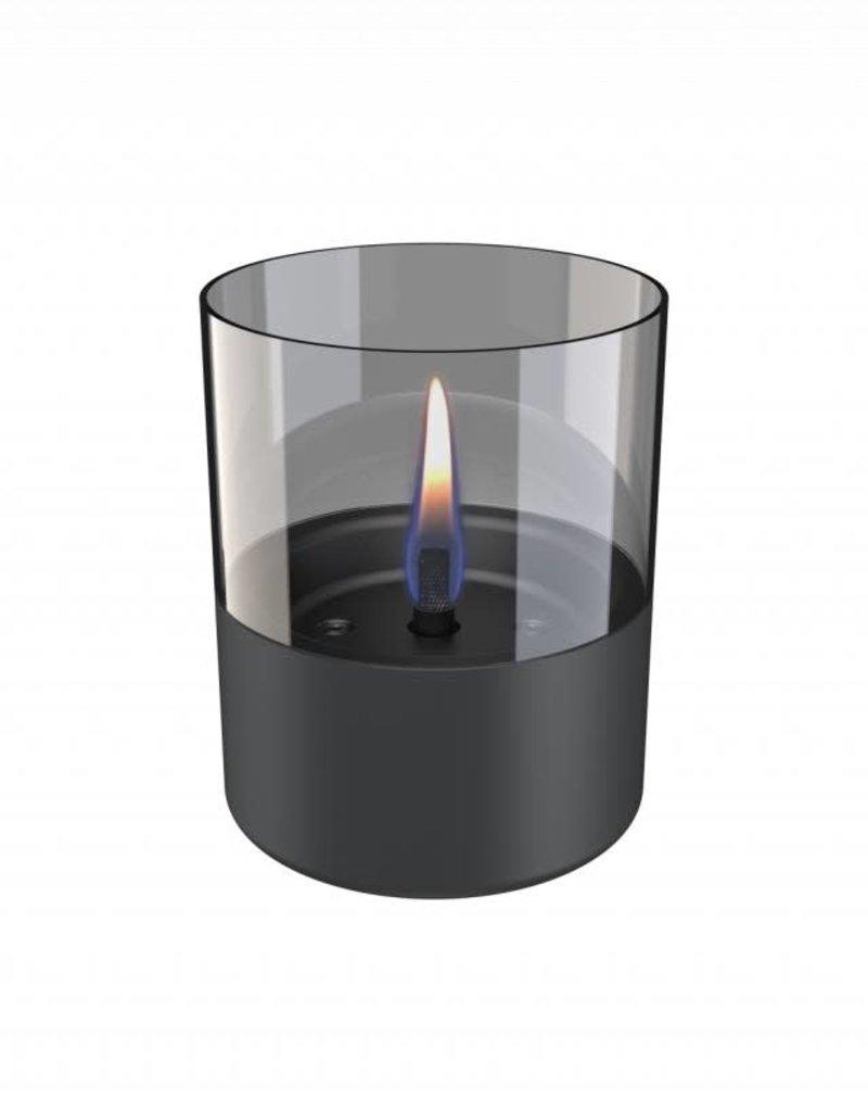 Tenderflame Lilly Glass donker grijs (tafelhaard) - Tenderflame