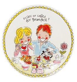 "Blond Amsterdam Ontbijtbord 22cm Love ""Even Bijkletsen"" - Blond Amsterdam"