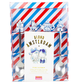 "Blond Amsterdam Set van 4 Theelepels ""Delfts Blond"" - Blond Amsterdam"