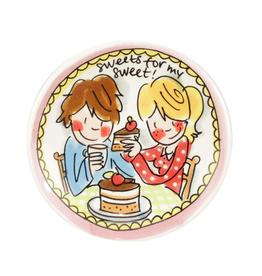 "Blond Amsterdam Petit Four 12cm Roze ""Even Bijkletsen"" - Blond Amsterdam"