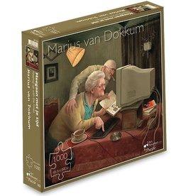 """Puzzel """"Meegaan met je tijd"""" Marius van Dokkum 48,5x54cm / 1000 pcs"""