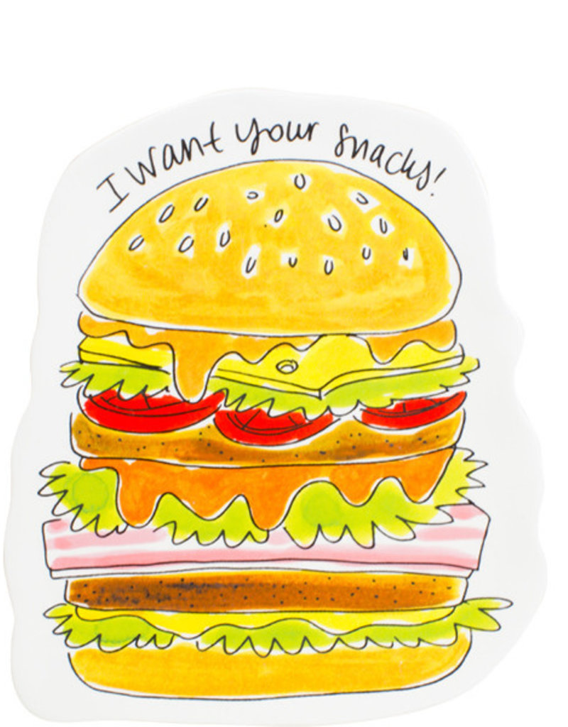 "Blond Amsterdam Hamburger Bord ""Snack"" - Blond Amsterdam"