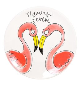 "Blond Amsterdam Gebaksbord 18cm Flamingo ""Paradise"" - Blond Amsterdam"
