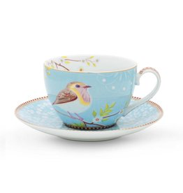 Pip Studio Cappuccino Kop & Schotel Early Bird blauw - Pip Studio