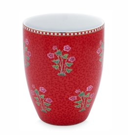 Pip Studio Drinkbeker Floral Good Morning rood - Pip Studio