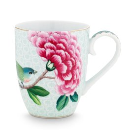 Pip Studio Mok groot Blushing Birds wit 350ml - Pip Studio
