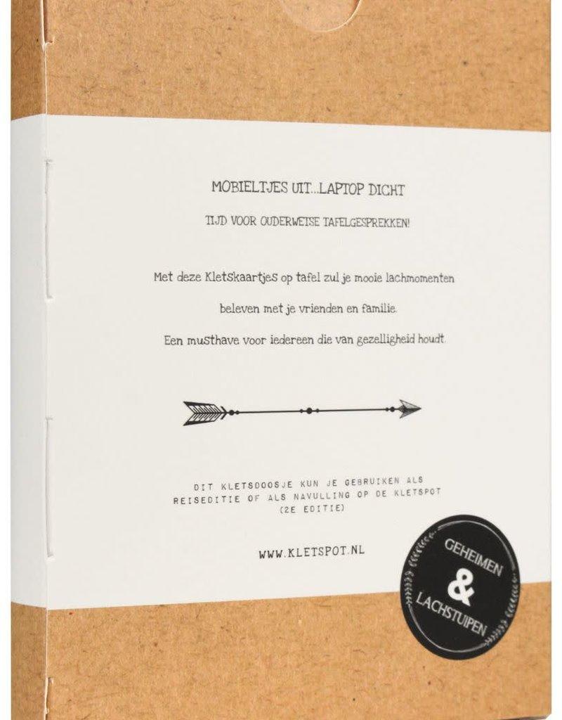 Kletspot Kletsdoosje- 108 Kletskaarten met boeiende vragen & waanzinnige dilemma's