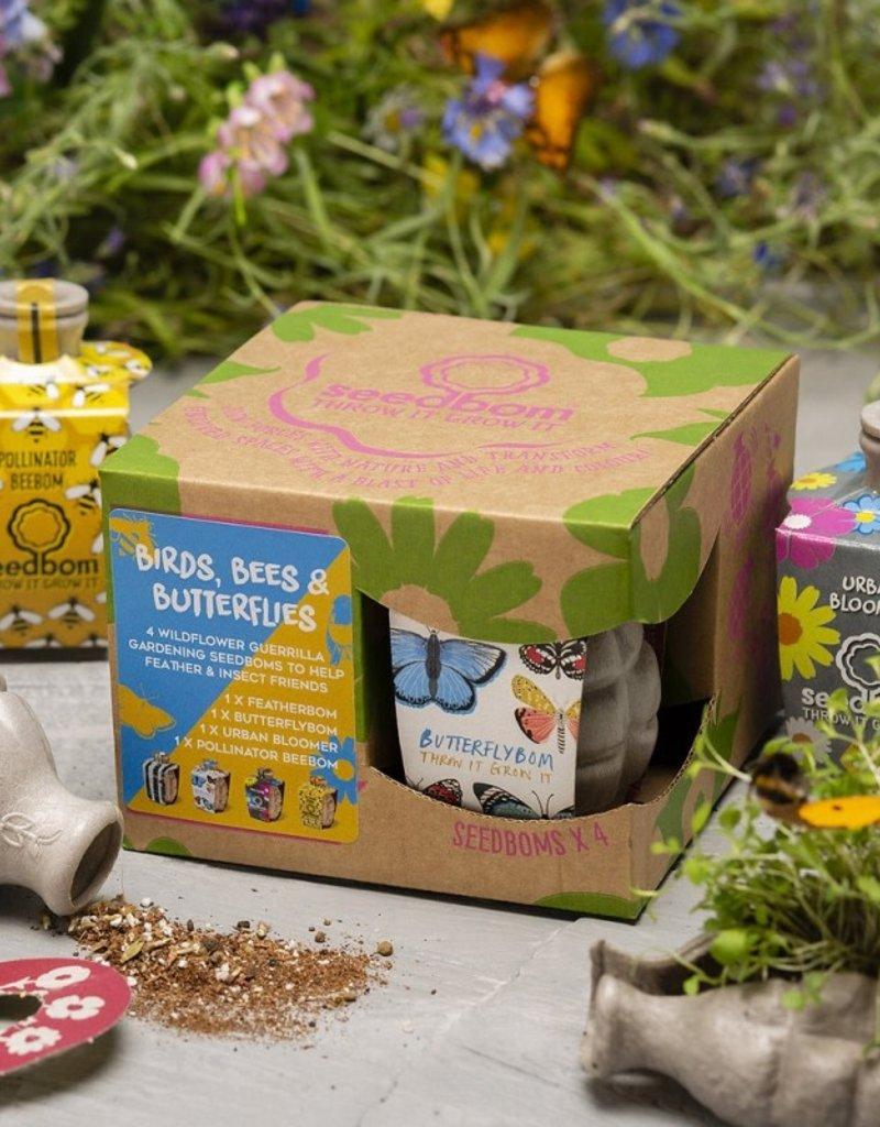 """Seedbom Seedbom 4 stuks """"Birds, Bees and Butterflies"""""""