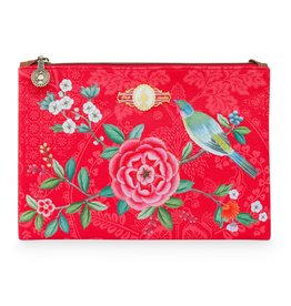 Pip Studio Platte Toilettas medium Floral Good Morning rood - Pip Studio