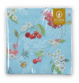 Pip Studio Servetten Hummingbirds blauw - Pip Studio