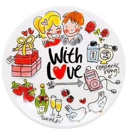 "Blond Amsterdam Gebaksbord 18cm Champagne ""With Love"" - Blond Amsterdam"
