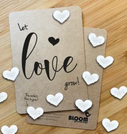 "Wenskaart ""Let Love Grow"" - Bloeiende Confetti"