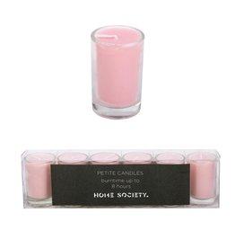 "Home Society Kaarsjes roze ""Votive"" 6 stuks - Home Society"