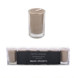 "Home Society Kaarsjes ""Votive"" Taupe 6 stuks - Home Society"