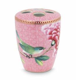 Pip Studio Tandenborstelhouder Floral Good Morning roze - Pip Studio