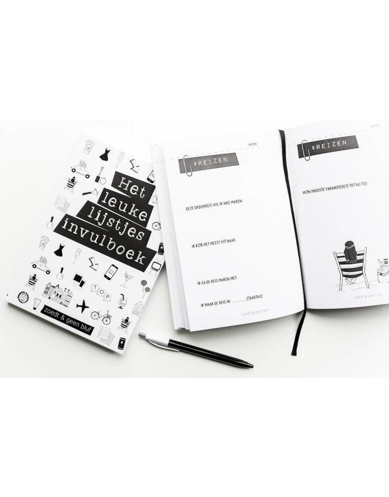 Zoedt Het Leuke Lijstjes Invulboek - Zoedt