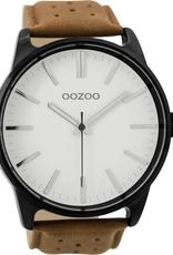 OOZOO Horloge C9420 bruin/wit 48mm - OOZOO