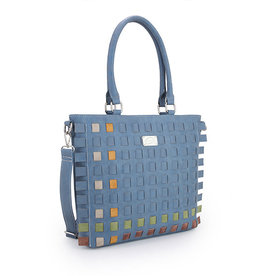 Hi-Di-Hi Tas Tangle blauw/multicolor - Hi-Di-Hi