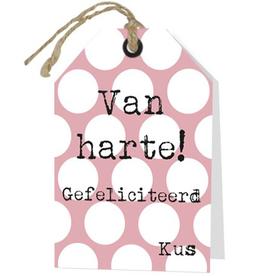 Wenskaart Van Harte! Gefeliciteerd Kus - Rebel30
