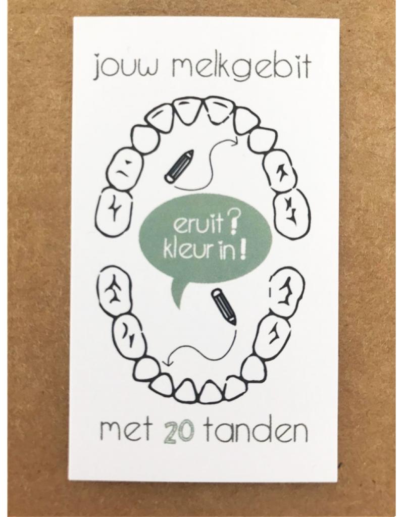 PeperMints Tandendoosje Zwart/Wit- Pepermints