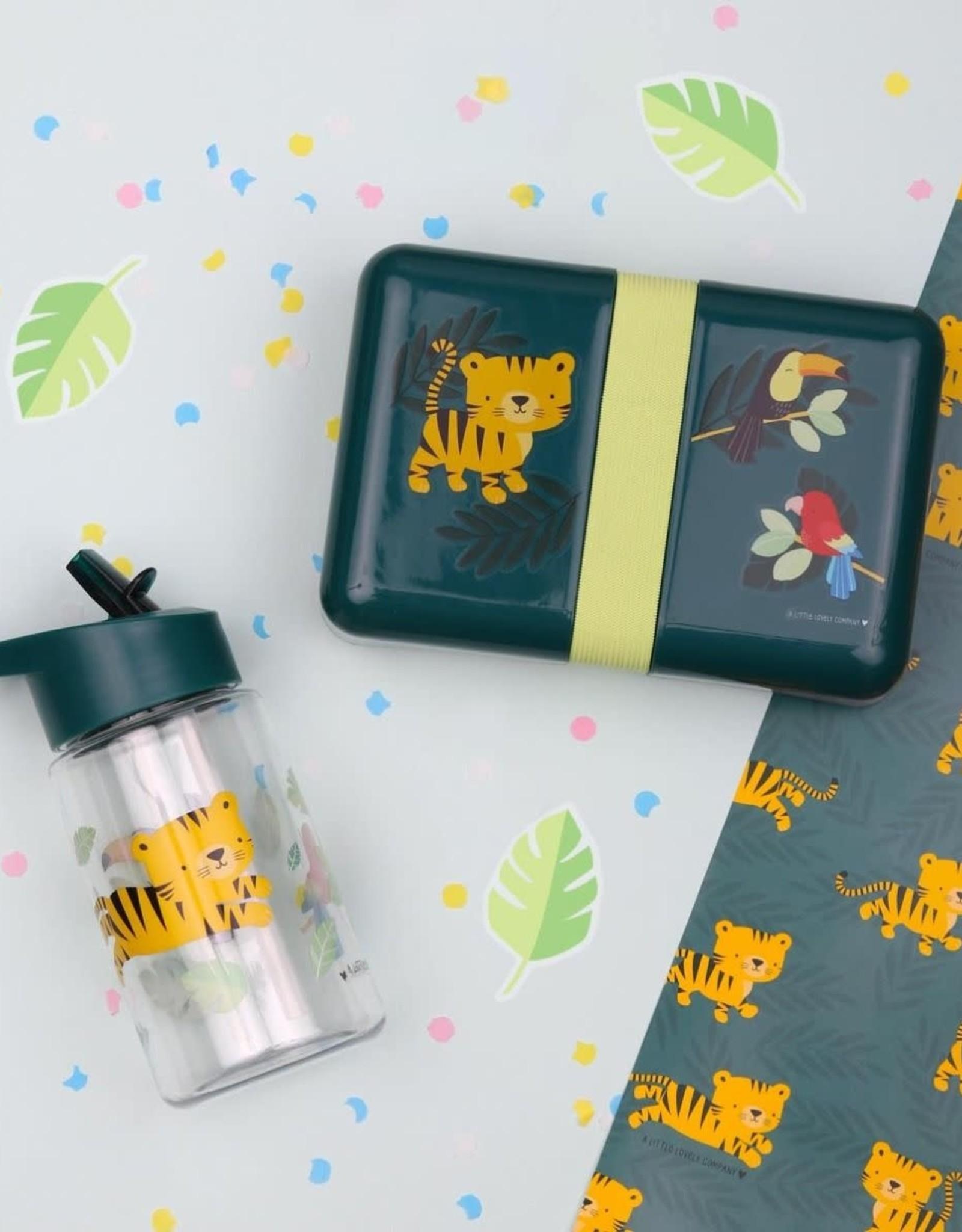 A Little Lovely Company Drinkfles Jungle Tijger - A Little Lovely Company