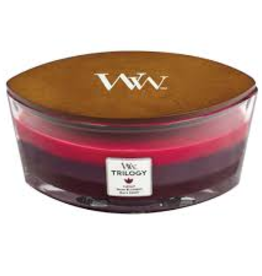 "WoodWick Kaars WoodWick ""Sun Ripened Berries Trilogy"" Ellipse - WoodWick"