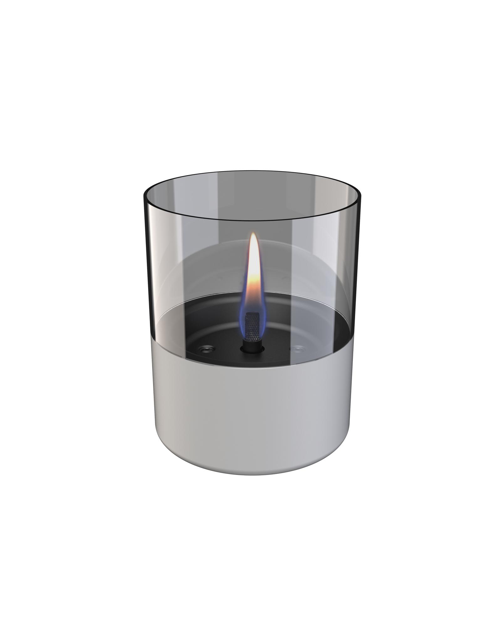 Tenderflame Lilly Glass licht grijs (tafelhaard) - Tenderflame