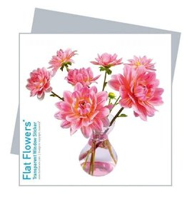 Flat Flowers Wenskaart + Raamsticker Dahlia - Flat Flowers