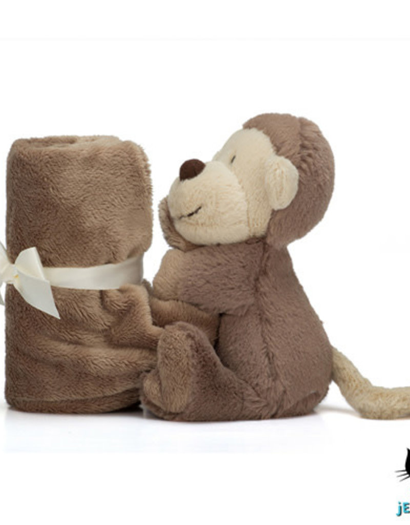 37c0483ba9905d Knuffel Doek Bashful Monkey Soother - Jellycat - KunstZinnig Kado ...