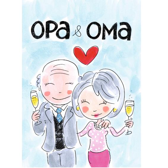 Uitgelezene Kaart A4 Opa & Oma - Blond Amsterdam - KunstZinnig Kado- en Woonwinkel TD-09