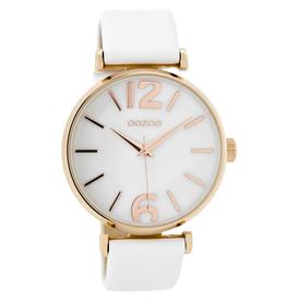 OOZOO Horloge wit / rosé / parelmoer 40mm C8916 - OOZOO