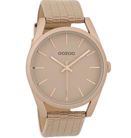 OOZOO Horloge peach croco (r) 45mm C9583 - OOZOO