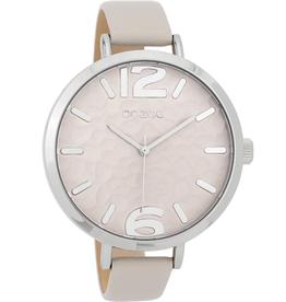 OOZOO Horloge licht grijs taupe 45mm C9710 - OOZOO