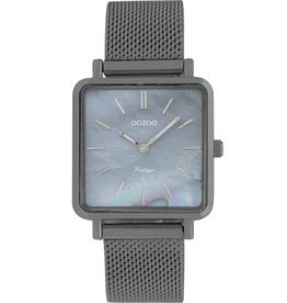 OOZOO Horloge titanium/parelmoer/zwart 29mm C9849 - OOZOO
