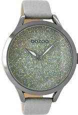 OOZOO Horloge steengrijs/titanium/glitter 43mm C9125 - OOZOO