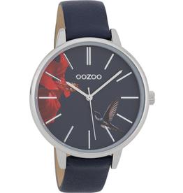 OOZOO Horloge donker blauw 42mm C9763 - OOZOO