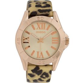 OOZOO Horloge panter/goud/rosé 40mm C9783 - OOZOO